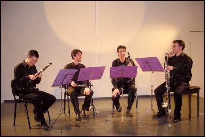 Le quatuor de clarinettes Turbulences
