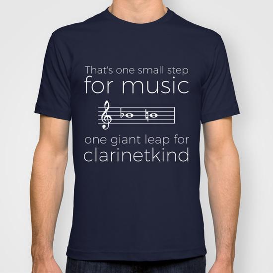t-shirt passage la-si clarinette
