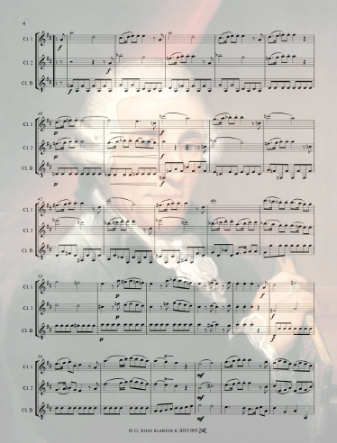 New : Haydn London Trio #1 arranged for clarinet trio