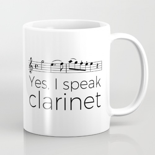 """Yes, I speak music"" mugs"