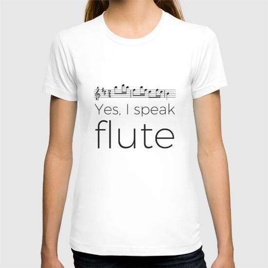 i-speak-flute-tshirts