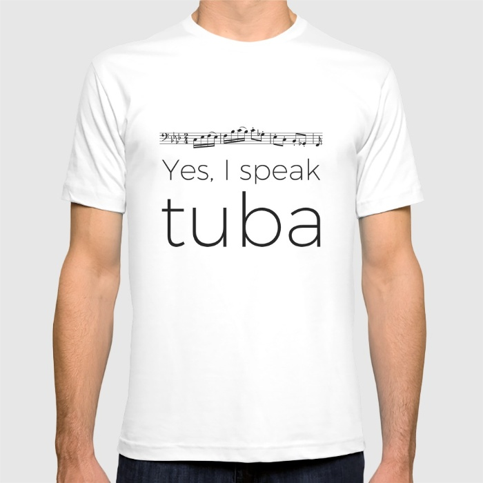 i-speak-tuba-tshirts