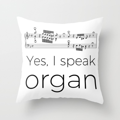 """Yes, I speak music"" pillows"