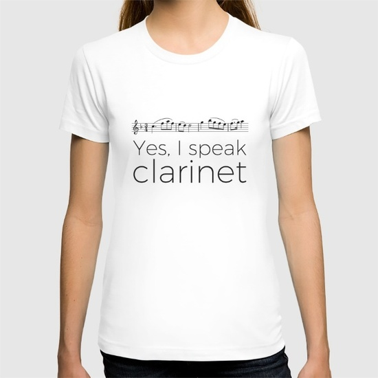do-you-speak-clarinet-tshirts
