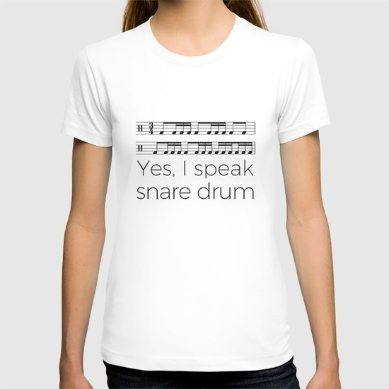 i-speak-snare-drum-tshirts