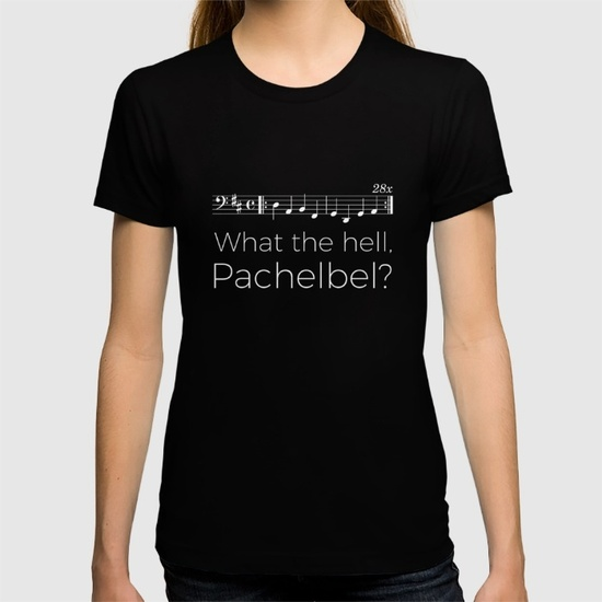 what-the-hell-pachelbel-black-tshirts