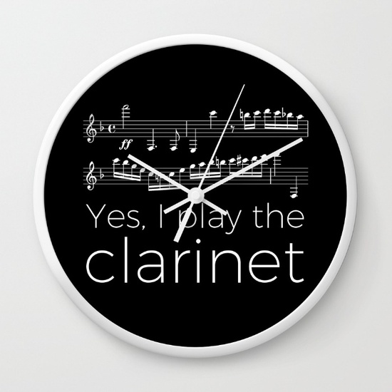 yes-i-play-the-clarinet-wall-clocks