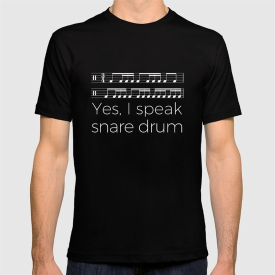 yes-i-speak-snare-drum-tshirts
