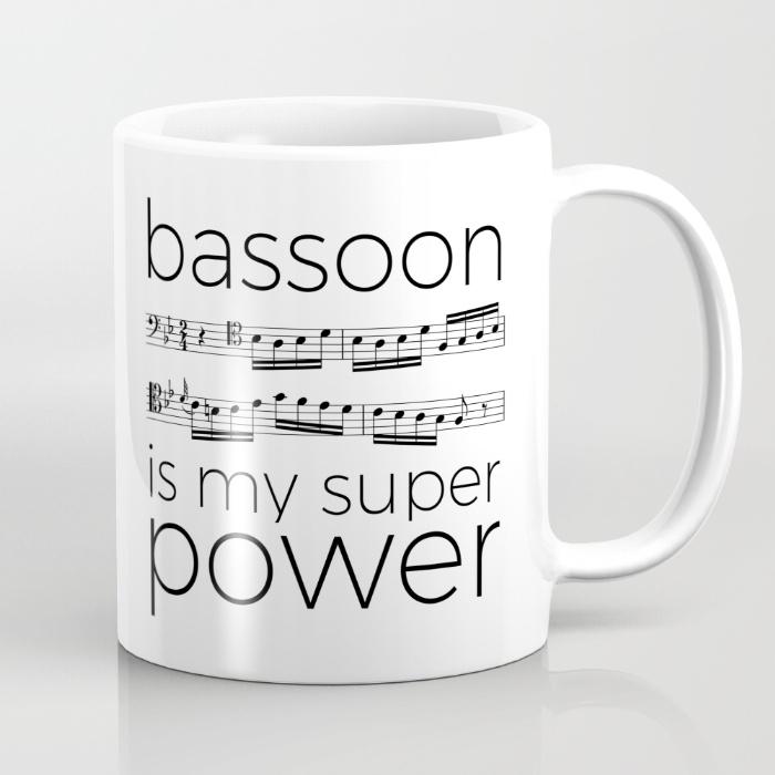 bassoon-is-my-super-power-white-mugs