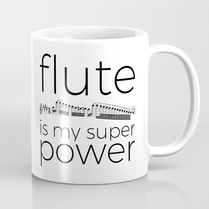 flute-is-my-super-power-mugs