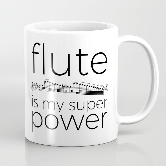 flute-is-my-super-power-mugs