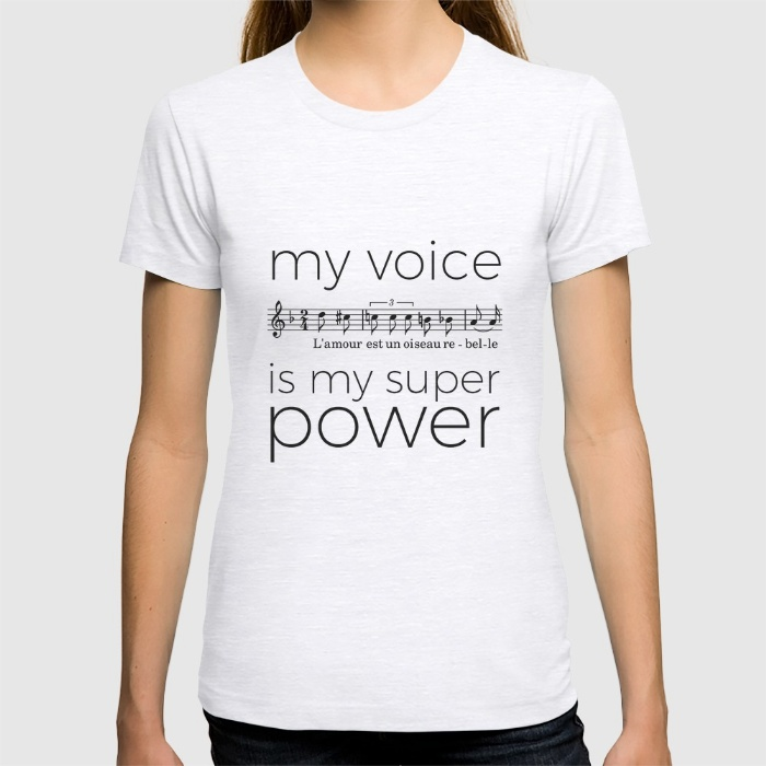 """""""My voice is my super power"""" t-shirts – The curious clarinet"""