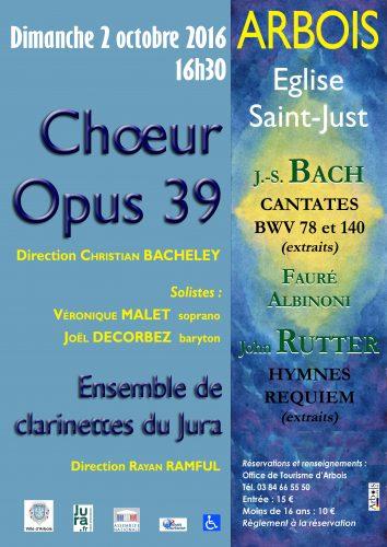 Concert de l'Ensemble de Clarinettes du Jura et du choeur Opus 39