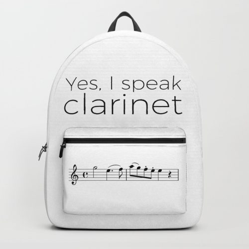 "Sac à dos ""Yes, I speak music"""