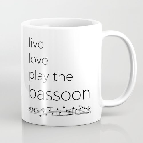 Live Love Play Bassoon Mug