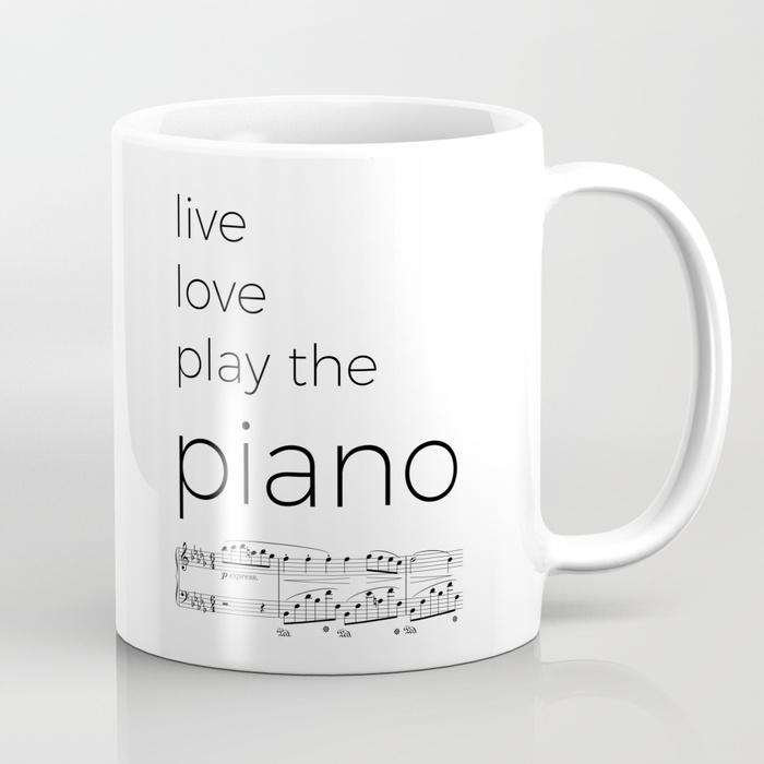 Live Love Play Piano Mug
