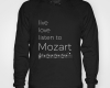 Live, love, listen to Mozart Classical music hoody