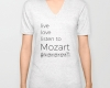 Live, love, listen to Mozart Classical music v-neck shirt