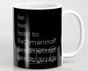 Live, love, listen to Rachmaninoff Classical music mug