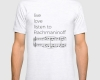Live, love, listen to Rachmaninoff Classical music t-shirt