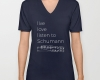 Live, love, listen to Schumann Classical music v-neck shirt