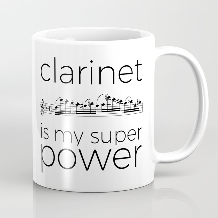 Clarinet is my super power! Mug inspired by Spohr.