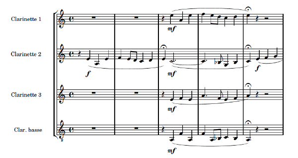 Reger piece for clarinet quartet