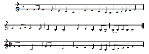 Petites dans bretonnes pour clarinette