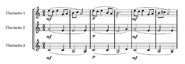 Petit conte, pour 3 clarinettes