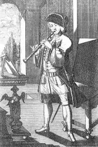 Gravure de Weigel, joueur de clarinette