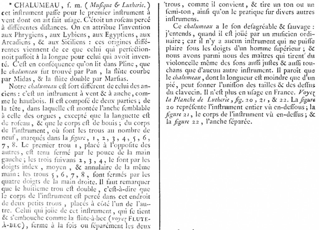 Encyclopédie Diderot Chalumeau
