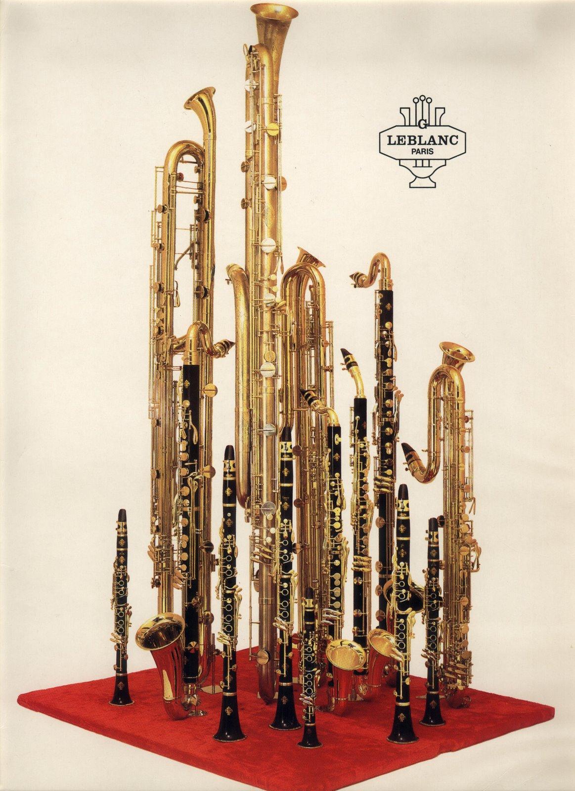 La famille des clarinettes (Marque Leblanc), publicité de 1983