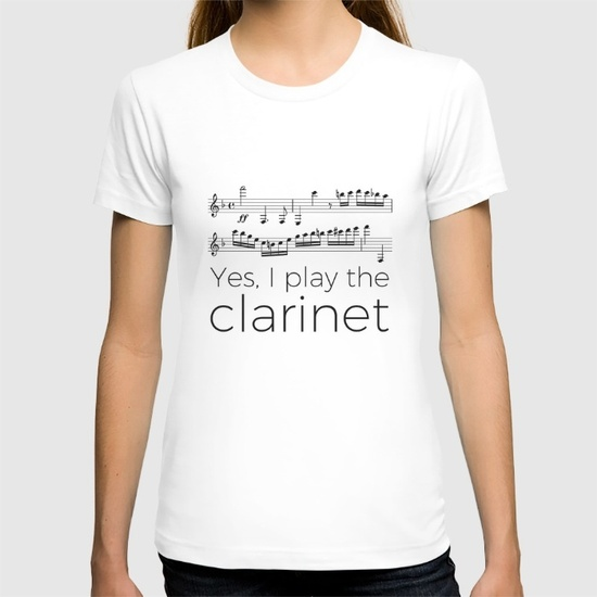 i-play-the-clarinet-tshirts