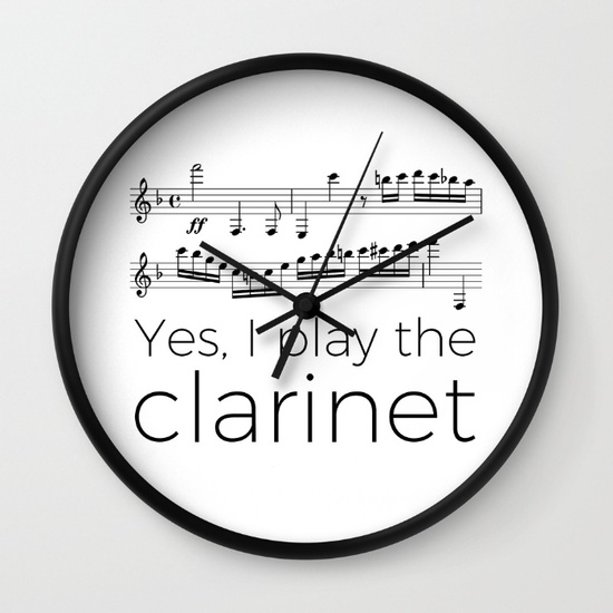 i-play-the-clarinet-wall-clocks