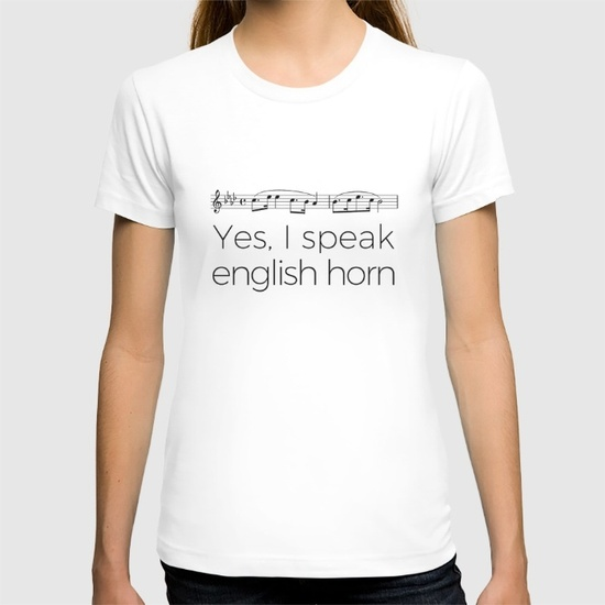i-speak-english-horn-tshirts
