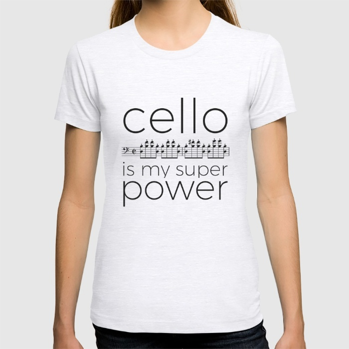 cello-is-my-super-power-white-tshirts