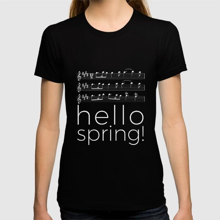 hello-spring-black-tshirts-w