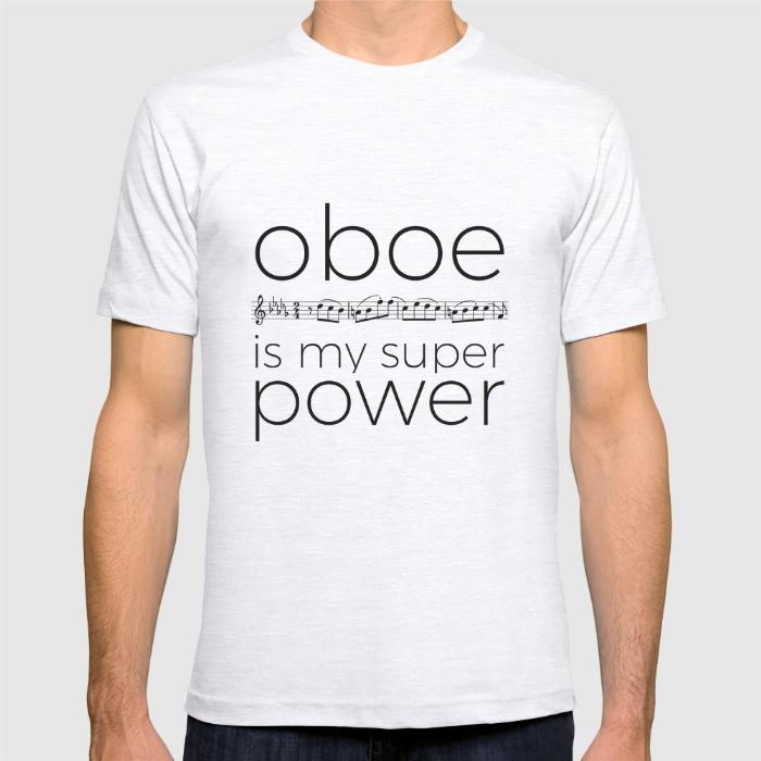 oboe-is-my-super-power-white-tshirts
