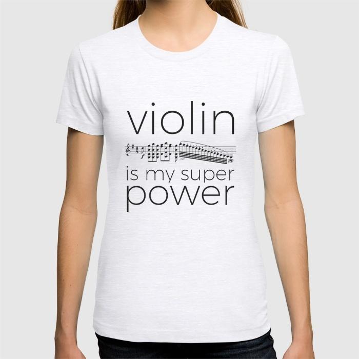 violin-is-my-super-power-white-tshirts