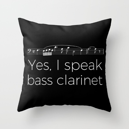 yes-i-speak-bass-clarinet-pillows