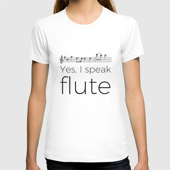 do-you-speak-flute-tshirts