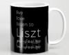 Live, love, listen to Liszt Classical music mug