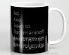 Live, love, listen to Rachmaninoff Classical music mug