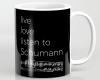 Live, love, listen to Schumann Classical music coffee mug