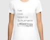 Live, love, listen to Schumann Classical music t-shirt