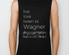 Live, love, listen to Wagner Classical music biker tank top